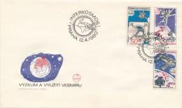Czechoslovakia / First Day Cover (1980/07 B), Praha - Theme: INTERKOSMOS - Remote Sensing Earth - Geographie