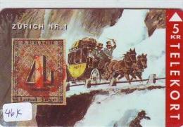 TEMBRE Sur Télécarte  * DANEMARK * Stamp  On Phonecard DANMARK (46K) Briefmarke Auf TELEFONKARTE * TIRAGE ISSUED 3000 EX - Timbres & Monnaies
