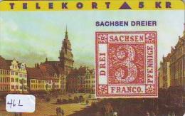 TEMBRE Sur Télécarte  * DANEMARK * Stamp  On Phonecard DANMARK (46L) Briefmarke Auf TELEFONKARTE * TIRAGE ISSUED 3000 EX - Timbres & Monnaies