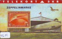 TEMBRE Sur Télécarte  * DANEMARK * Stamp  On Phonecard DANMARK (46M) Briefmarke Auf TELEFONKARTE * TIRAGE ISSUED 2000 EX - Timbres & Monnaies
