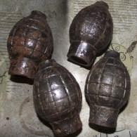 Lot De 4 Grenade Citron - 1914-18
