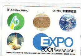 Télécarte Japon ESPACE * Phonecard JAPAN (609) SPACE SHUTTLE * COSMOS * TK * WELTRAUM * LAUNCHING * SATELLITE * - Espace