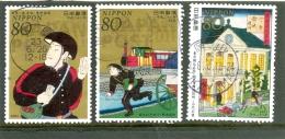 2012 JAPON Y & T N° 5413 à 5415 ( O ) Semaine De La Lettre. - 1989-... Emperador Akihito (Era Heisei)