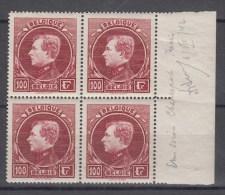Nr 292 (4) **, In Blok Van 4 Met Bladboord, Cote = 600 € (X10905) - 1929-1941 Groot Montenez