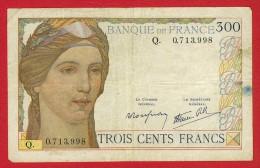 CARTAMONETA - PAPER MONEY - 300 FR. FRANCIA - LA FAYETTE 1938 - 1939 - QUALITY SPL - NON STIRATA - CON 7 PUNTI DI SPILLO - 1871-1952 Antiguos Francos Circulantes En El XX Siglo