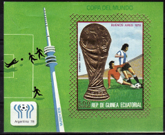 GUINEE EQUATORIALE   BF  * * NON  DENTELE  Cup 1978  Football Soccer  Fussball - 1978 – Argentina