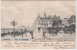 21554g TRAM HIPPOMOBILE - CHARRETTE à CHEVAL - PORTE De SCHAERBEEK - 1903 - Schaarbeek - Schaerbeek