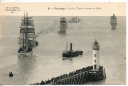76. Fecamp. Navires Terre Neuviers En Rade - Fécamp