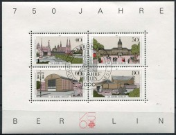 Berlin 1987. Berlin 750 Years. Block W. 4 Stamps - Blocks & Sheetlets