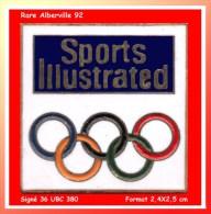 """SUPER Et RARE PIN'S OLYMPIQUE-MEDIAS : Le Toujours Recherché """"SPORT ILLUSTRATED"""" Des JO D'ALBERVILLE 92 Média Américain - Olympische Spelen"""