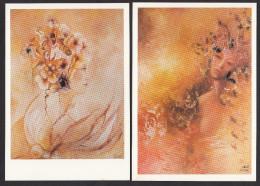 CPM - BRUEL 1984 - Lot De 8 Cartes Reproduction Peinture, Thème Femme - Voir Descriptif - Peintures & Tableaux