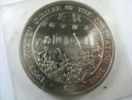 BRITISH VIRGIN ISLANDS 1 DOLLAR 2003 GOLDEN JUBILEE OF THE CORONATION  LOT 20 NUM 2 - Iles Vièrges Britanniques