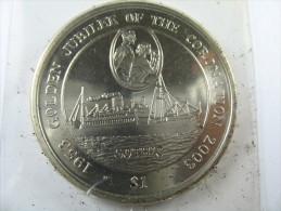 BRITISH VIRGIN ISLANDS 1 DOLLAR 2003 GOLDEN JUBILEE OF THE CORONATION  LOT 20 NUM 3 - Iles Vièrges Britanniques