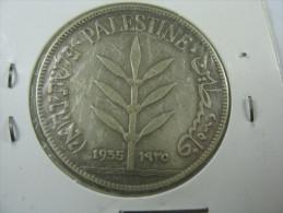 ISRAEL  PALESTINE PALESTINA 100 MILS 1935  SILVER COIN LOT 20 NUM 5 - Israel