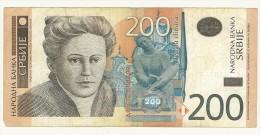 CARTAMONETA - PAPER MONEY  - SERBIA 2005 -200 DINARI -  QUALITY BB - NON STIRATA - Serbia