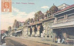 Ceylon, Hindu Temple, Colombo   (Sri Lanka)  (Ceylan) - Sri Lanka (Ceylon)