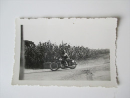 Originalfoto 1930er Jahre. Marokko / Maroc. Altes Motorrad / Oldtimer. Optique - Photo Albert Casablanca - Afrika