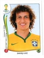 FIGURINE PANINI NUOVE - MINT STICKERS BRASIL WORLD CUP 2014 - BRASIL - DAVID LUIZ - N.36 - Edizione Italiana