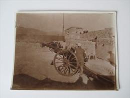 Originalfoto 1940er Jahre ?? Casablanca ?? Afrika / Marokko. Kanonen / Stadtmauer / Geschütz - Krieg, Militär