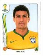 FIGURINE PANINI NUOVE - MINT STICKERS BRASIL WORLD CUP 2014 - BRASIL - PAULINHO - N.41 - Panini