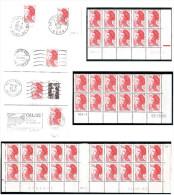 FRANCE 1985 LIBERTE DE GANDON YT N° 2376a 2,20 Rouge T.2 COINS DATES - 1982-90 Liberté De Gandon