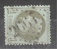 Napoleon Lauré N° 25, 1 C Bronze, Obl GC 2664 De NOE, Haute Garonne, Indice 8, TB - 1863-1870 Napoleon III With Laurels