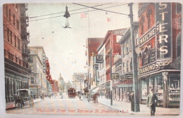 Providence. Weybossett Street Fron Darranse St. Rhode Island. - Providence