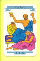 Socrate Boit La Ciguë Mortelle /  Antiquité Grèce - Philosophe Grec  // IM 124/6 - Old Paper
