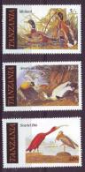Tanzania, 1986 - American Bird - Nr.306/308 MNH** - Tanzania (1964-...)