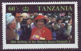 Tanzania, 1987 - 60sh Queen Elizabeth - Nr.336 MNH** - Tanzania (1964-...)