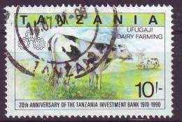 Tanzania, 1991 - 10sh Dairy Farming - Nr.701 Usato° - Tanzania (1964-...)