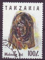 Tanzania, 1992 - 100sh Makonde Art - Nr.985E Usato° - Tanzania (1964-...)