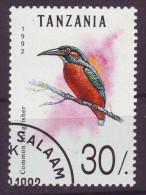 Tanzania, 1992 - 30sh Common, Kingfisher - Nr.982 Usato° $1,25 - Tanzania (1964-...)