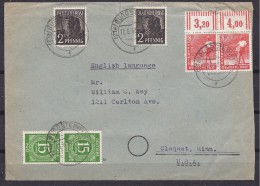 Germany1948:GENERAL ISSUES Mi.921,943,945(2 Each) On Cover - Zona AAS