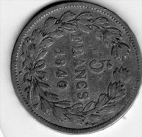 Pièce De 5 Francs 1840 Louis Philippe I, Roi Des Français - France
