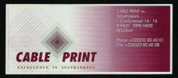 "Test Note ""CABLE PRINT"", 10 Units, Beids. Druck, RRRRR, UNC, Dollar-Format - USA"