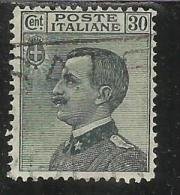 ITALIA REGNO ITALY KINGDOM 1925 EFFIGIE RE VITTORIO EMANUELE KING EFFIGY CENT. 30 USATO USED - 1900-44 Vittorio Emanuele III