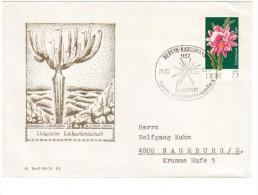 DDR, GERMANIA -1983  - BUSTA KAKTUS CILE  AFFRANCATURA E´ ANNULLO KAKTEEN - Cactusses