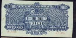 REPUBLIKA CESKOSLOVENSKA   1000 KORUN  UNC     SPECIMEN     AA 713634 - Cecoslovacchia