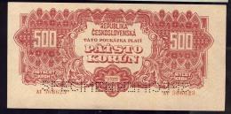 REPUBLIKA CESKOSLOVENSKA   500 KORUN  UNC     SPECIMEN     AT 566623 - Tchécoslovaquie