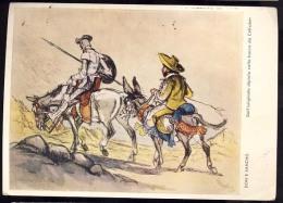 AK     Don Quijote    Don E Sancho - Cuentos, Fabulas Y Leyendas
