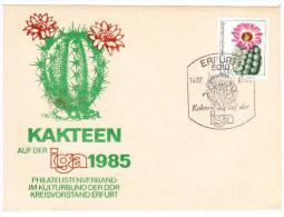 DDR, GERMANIA -1985  - ERFURT - CARTOLINA KAKTEEN IGEA 1985 - Cactusses
