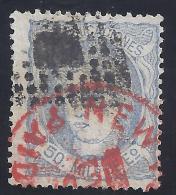 ESPAÑA 1870 - Edifil #107 - FU Matasellos Américano - 1868-70 Provisional Government