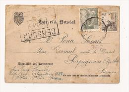 ESPAGNE CARJETA POSTAL De GERONA Pour PERPIGNAN CENSURA  MARS 1945 - Marcas De Censura Nacional