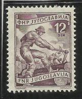 JUGOSLAVIA YUGOSLAVIA 1953 1955 LUMBERING 12 D PERF. 12 1/2 DENTELLATO MNH - 1945-1992 Repubblica Socialista Federale Di Jugoslavia