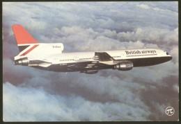 TRISTAR BRITISH AIRWAYS AIRPLANE POSTCARD S/H = 3,50 - 1946-....: Ere Moderne