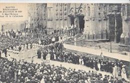 23695 NANTES France RETABLISSEMENT DES PROCESSIONS EN 1921 MGR EVEQUE SORtant Cathedrale -3 Chapeau
