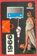 K908 / 1966 - PEOPLE SHOP - Naked Woman, Balls, Bags, Radio - Calendar Calendrier Kalender - Bulgaria Bulgarie - Petit Format : 1961-70