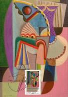 Carte Maximum   2014 - Auguste Herbin - Du Cubisme - 1er Jour Le 10.05.2012 à 75 Paris - 2010-...