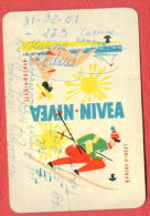K917 / 1966 - NIVEA - LECHIA - POZNAN , SPORT Skiing Ski Sci , WOMAN BEACH - Calendar Calendrier Kalender - Poland - Petit Format : 1961-70